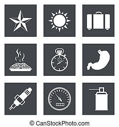 ícones, para, projeto teia, jogo, 29