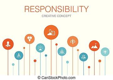 ícones, passos, confiança, template., honestidade, ...