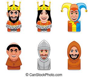 ícones, pessoas, ages), avatar, (middle