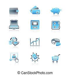 ícones, série, questões, dinheiro, marinho, |