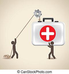 ícones, saúde