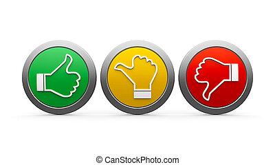 ícones, satisfação freguês