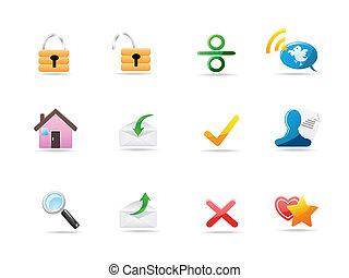 ícones, site web, &, internet