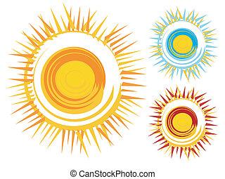 ícones, sol