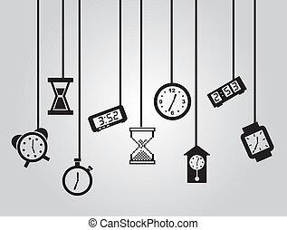 ícones tempo