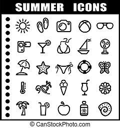 ícones, verão