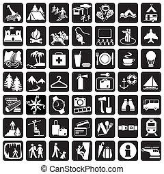 ícones, viagem