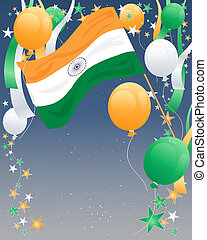 índia, dia, independência
