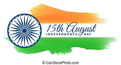índia, fundo, patriótico, dia, independência, feliz