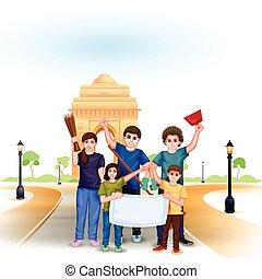 índia, missão, limpo