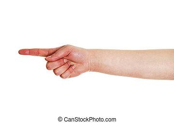 índice, mano, dedo