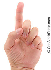 índice, señalar con el dedo arriba