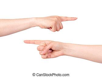 índice, señalar, mano