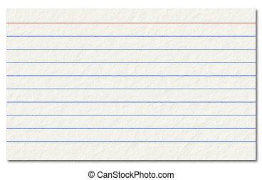 índice, viejo, aislado, fondo., blanco, tarjeta