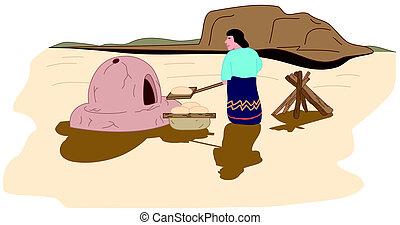índios americanos, norte, wigwam