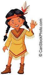 índios americanos, saudação, nativo