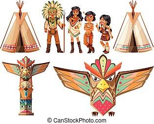 índios americanos, tepee, nativo