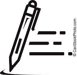 írás, gyorsaság, ikon