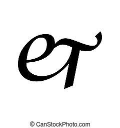 írás jelkép, websites., tervezés, általános, fekete, kezezés...