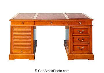 íróasztal, elszigetelt
