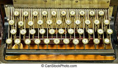 írógép billentyűzet
