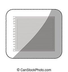ív, szín, jegyzetfüzet, tiszta, árnykép, csíkos