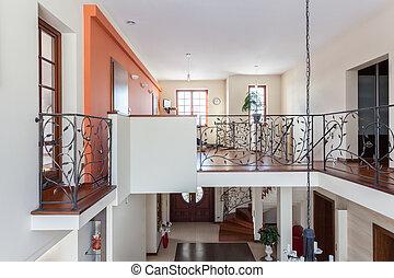 ízléses, épület, -, two-story, otthon