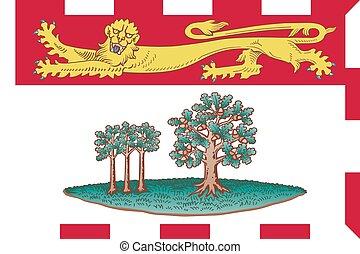 île, état, edward, drapeau, canadien, prince