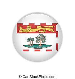 île, bouton, edward, drapeau, prince