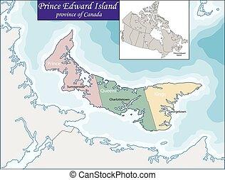île, carte, edward, prince