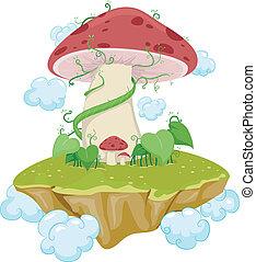 île, champignon