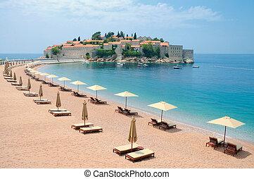 île, dans, méditerranéen