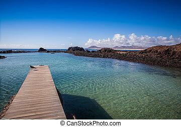 île, dock