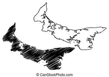 île, edward, prince, carte