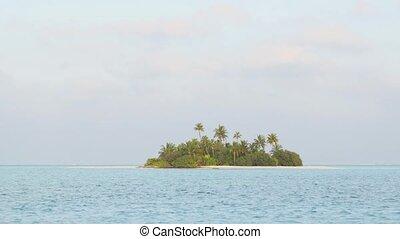 île, exotique, inhabité