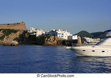 île ibiza, méditerranéen, repère, mer