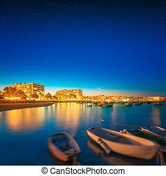 île ibiza, nuit, vue