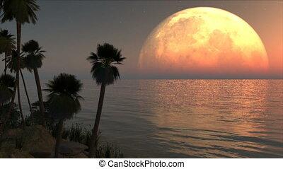 île, lune