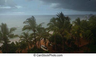 île, métrage, saisonnier, océan, exotique, 4k, lourd, indien...