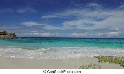 île, océan, plage, indien, africaine
