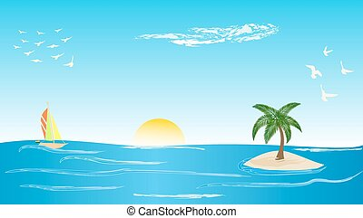île, palmier