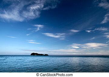 île, parc national, tasman, côte, petit, abel, ligne