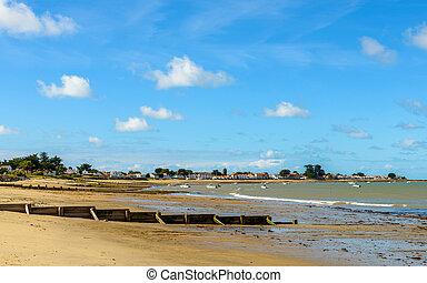 île, paysage, noirmoutier, france