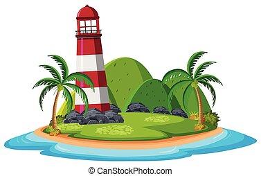 île, phare