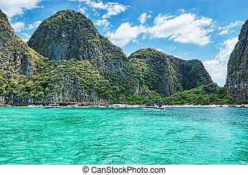 île, phi, province, krabi, thaïlande