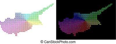 île, pixelated, chypre, spectre, carte
