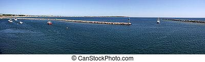 île port, bloc