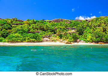île, seychelles, snorkeling