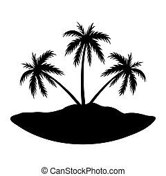 île, trois, paumes