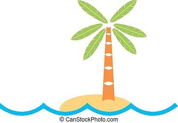 île tropicale, logo